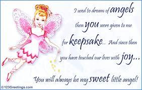 my sweet little angel free son u0026 daughter ecards greeting