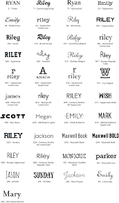 3 initial monogram fonts personalization details pottery barn kids