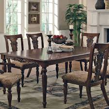 furniture fancy dining set with black leather chairs around