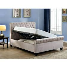 Grey Upholstered Ottoman Bed Ottoman King Size Bed Upholstered Ottoman Storage Bed Serenity