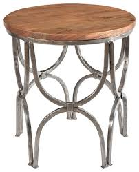 Mango Wood Outdoor Furniture - bengal manor mango wood and steel round end table side tables