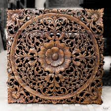 wood wall carvings large carved wood panel teak wood wall from siamsawadee on etsy