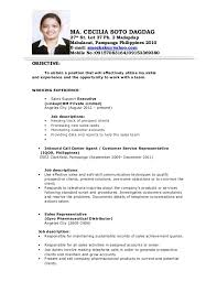 Sample Resume For Bpo Jobs by Resume Sample Of Call Center Executive Resume Ixiplay Free