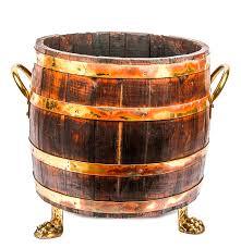 vintage claw footed oak barrel planter ebth