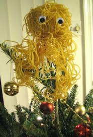 another flying spaghetti tree topper but made with real