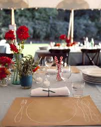 Kraft Paper Table Cloth A Whimsical Red Outdoor Wedding In California Martha Stewart