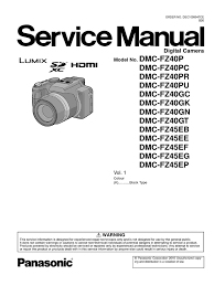 dmc fz45 service manual electrostatic discharge electrical
