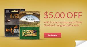 longhorn gift cards rite aid coupon 5 00 olive garden longhorn gift card