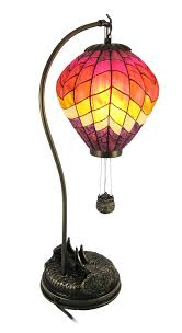 large stained glass air balloon table lamp accent air