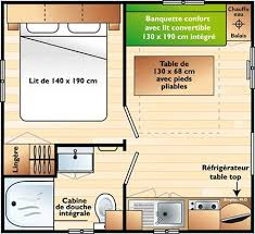 mobil home 1 chambre mobile home 1 bedroom cing les baleines