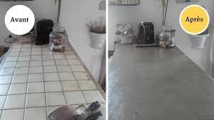 plan de travail cuisine carrelé formidable beton cire cuisine plan travail 2 que peut on mettre