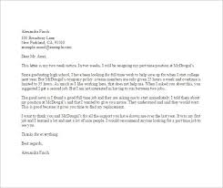 sample professional letter format email format resignation letter