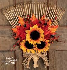 easy to make fall decorations door rake easy to make fall arrangement wreaths pinterest