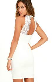 buy stylish and appealing white lace dress bingefashion