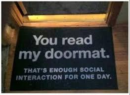 Geek Doormat 37 You Read My Doormat Pmslweb