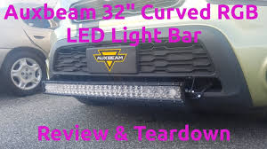 auxbeam light bar review auxbeam 32 inch led rgb light bar review teardown youtube