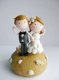 cute beach wedding couple figurine wedding cake cake ideas by