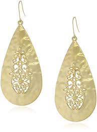 gold teardrop earrings gold tone filigree hammered teardrop earrings drop