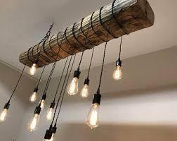 Chandelier With Edison Bulbs Natural And Creative Artistic Woodworking By 7mwoodworking
