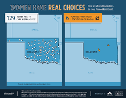 Oklahoma State Map Maps Health Clinics Nationwide Compared To Planned Parenthood