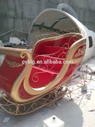 Christmas Decorations Large Santa Claus by New Christmas Fiberglass Sleigh Santa Claus Sleigh For Decorations