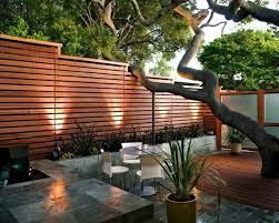 creative idea stunning home with high brown modern wood fence