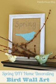art and craft for home decor spring diy home decorating bird wall art family focus blog
