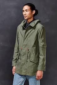 Green Parka Jacket Mens Alpha Industries X Uo Long Fishtail Parka Jacket In Green For Men