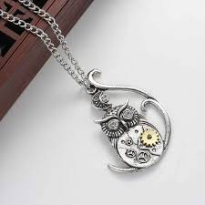 steampunk owl necklace images Steampunk owl necklace sedalia designs jpg