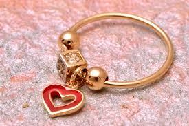 inele aur bijuterii aur inele inele cu charm uri aur