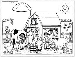 farm animals coloring pages free animal chicken printable to print