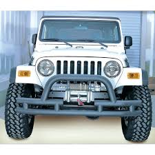 Rugged Ridge Jk Bumper Rugged Ridge 11561 03 Double Tube Front Winch Bumper With Hoop 3