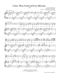 free printable sheet music for xylophone come thou fount of every blessing 38 free arrangements