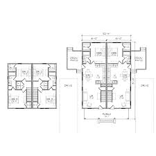 skillful duplex home plans with courtyards 13 narrow lot house one
