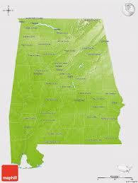 County Map Of Alabama Physical 3d Map Of Alabama Cropped Outside