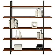 Amazon Bookshelves by Amazon Com Asunflower 5 Tier Vintage Industrial Style Bookshelves