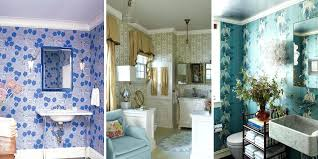 Wallpaper Borders For Bathrooms Trendy Blue Bathroom Wallpaper Bathroom Wallpaper Ideas Wall