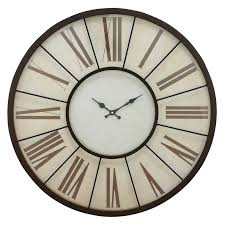 aspire home accents solange round metal 30 in wall clock hayneedle