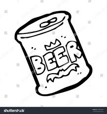 beer cartoon black and white cartoon beer can stock vector 103862600 shutterstock