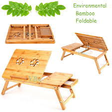Cooling Laptop Desk by Bamboo Laptop Lap Desk Foldable Table E Table Bed Cooling Fans