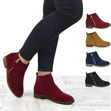 ladies motorcycle riding boots womens chelsea block heel riding biker metal zip ladies flat ankle