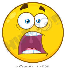 emoji clipart 1457041 screaming yellow emoji smiley