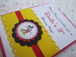 baby mickey invitations mickey mouse inspired handmade invitation invitation designs