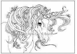 coloring page digital download unicorn flowers