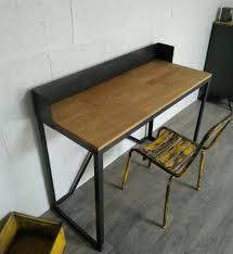 bureau metal et bois intérieur de la maison bureau style industriel tolle armoire