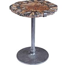 petrified wood pedestal table santa barbara modern home