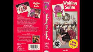 barney and the backyard gang waiting for santa 1990 1993 vhs