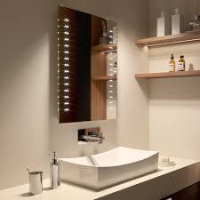 500 x 700 mm modern slim illuminated battery led bathroom mirror