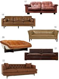 Nixon Leather Sofa Get The Look 28 Leather Sofas In Cognac Tobacco Caramel