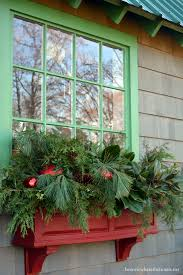 Lighted Window Box Christmas Decorations by Winter Window Boxes For The Potting Shed U2013 Home Is Where The Boat Is